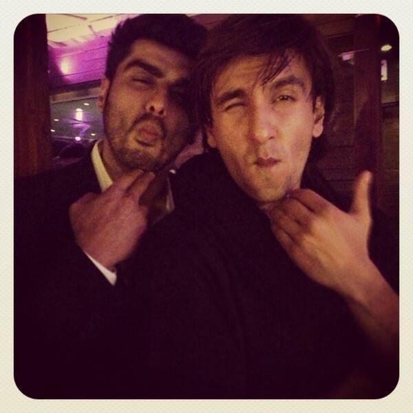 Ranveer And Arjun Very Cute Pose Photo Shoot At A Party