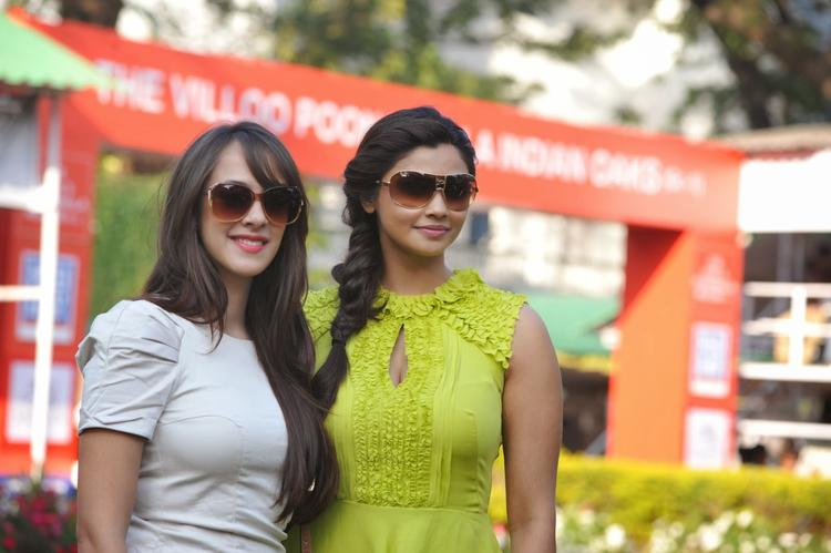 Daisy Shah And Hazel Keech Snapped At The Mid-Day Trophy Race Event