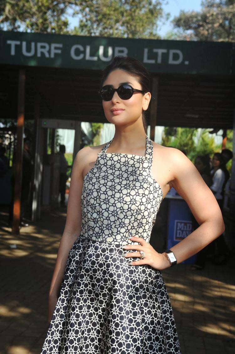 Kareena Kapoor With A Hot Look Spotted At The Mid-Day Trophy Race