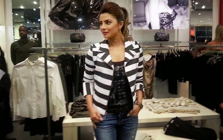 Bollywood Biggest Stars Priyanka Chopra At London For GUESS Store Launch