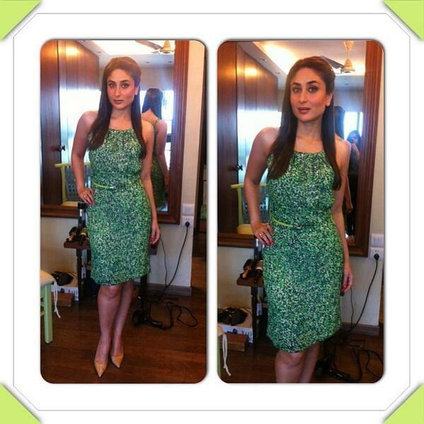 Kareena Kapoor Spotted For Tetley Green Tea Launch With Green Outfit