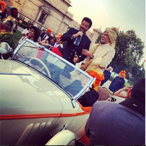Super Star Anil Kapoor Enjoy Karan's Wedding