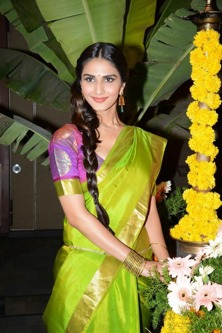 Beautiful Vaani Kapoor Photo Shoot During The Aaha Kalyanam Audio Launch Event