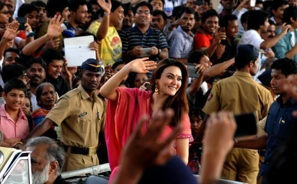 Actress Preity Zinta Is Beaming In Pink At Mumbai's Republic Day Parade