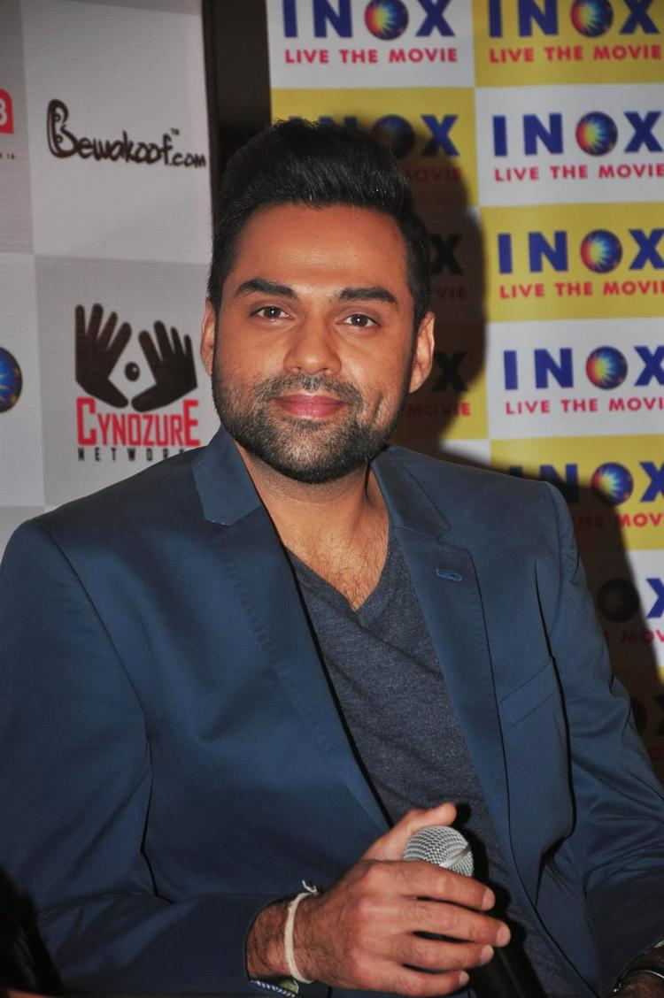 Abhay Deol Sweet Smile Nice Pic During The One By Two' Merchandise Event