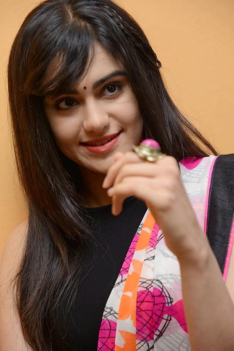Adah Sharma Dazzling Face Look At Heart Attack Audio Success Meet Event