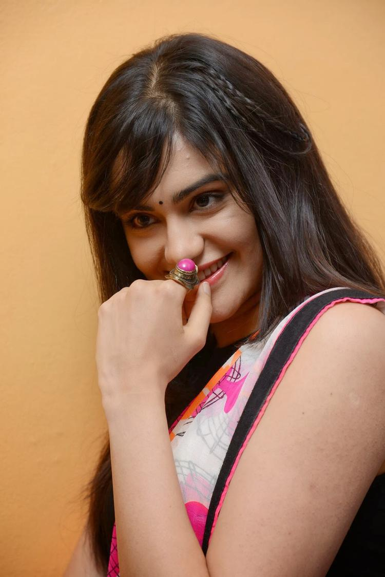 Adah Sharma Flaunt Hair Style Nice Look At Heart Attack Audio Success Meet Event