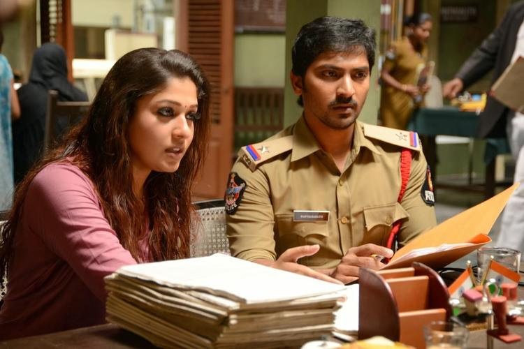 Nayantara And Vaibhav Reddy A Still From Anamika Tamil Movie