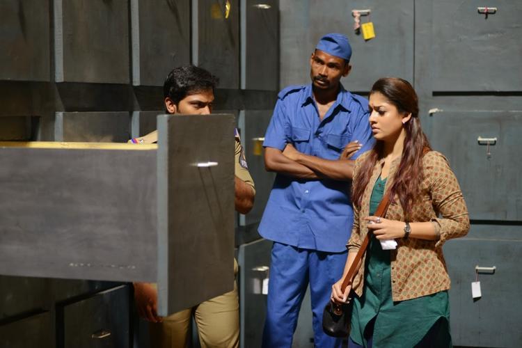 Nayantara In Busy Look Still From Anamika Tamil Movie