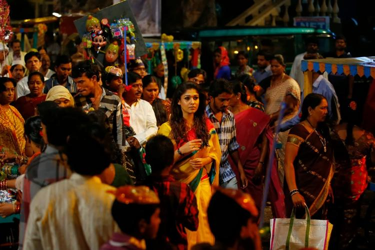 Nayantara In Crowded Place Nice Still From Anamika Tamil Movie