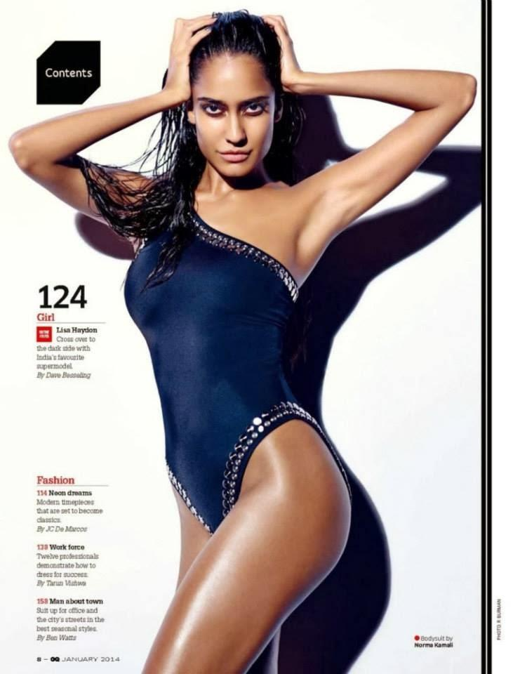 Latest Hot Lisa Haydon Bold Pose On The Cover Of GQ Magazine January 2014
