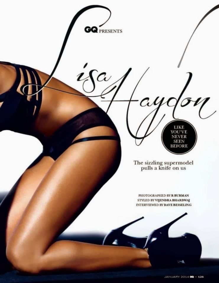 Lisa Haydon Hot Photo On The Cover Of GQ Magazine January 2014