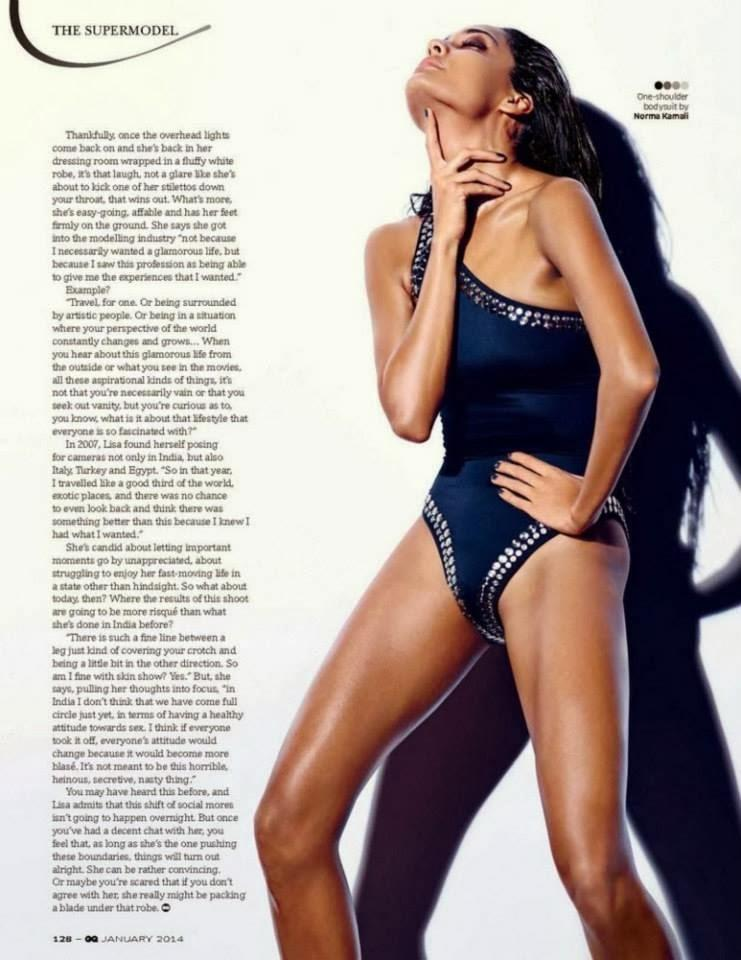 Lisa Haydon Sexy Photoshoots For GQ Magazine January 2014