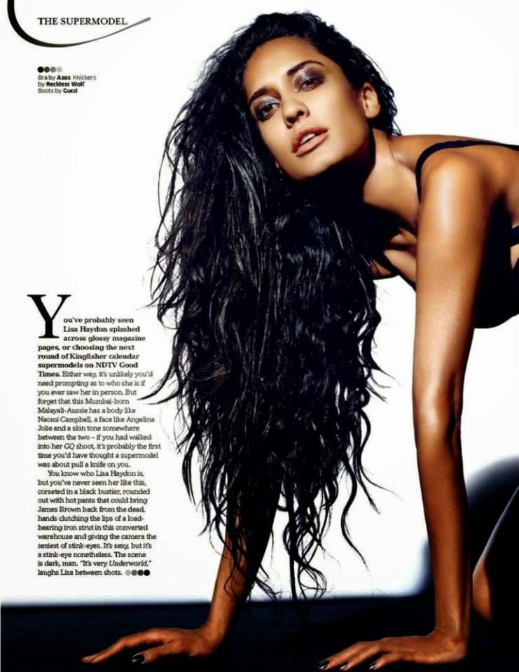 Sizzling Model Lisa Haydon Glamour Still For GQ Magazine January 2014