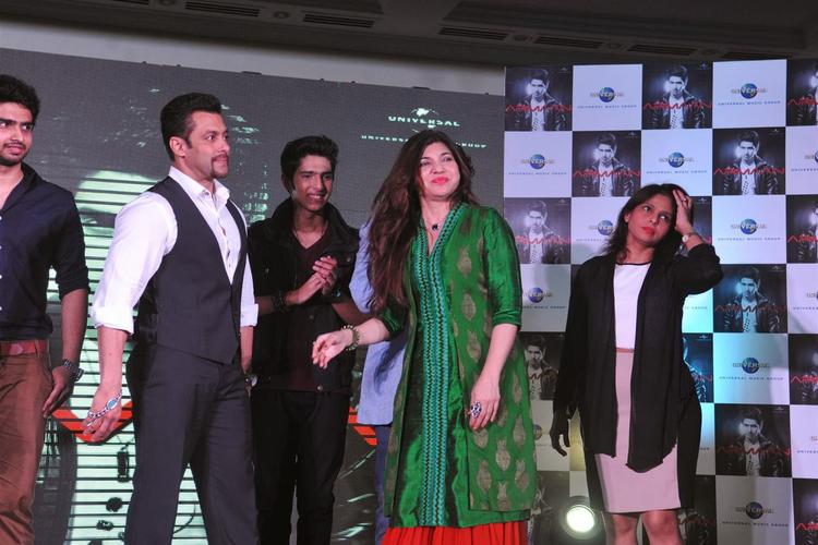 Salman Khan With Other Singers Launches Budding Singer Arman Malik's New Album