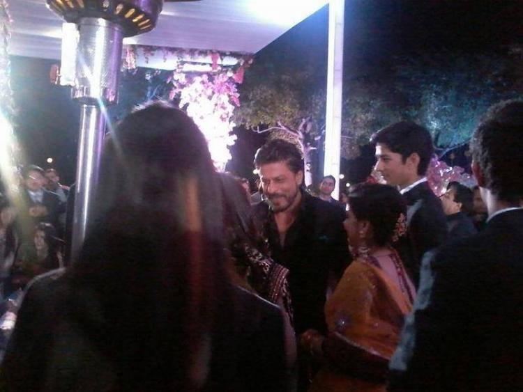 Shah Rukh Khan During The Wedding Of A NRI In Udaipur