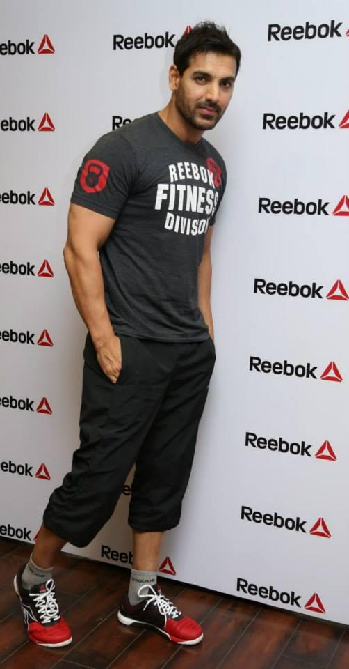 Bollywood Handsome Icon John Spotted At Reebok India's Ultimate Fitness Fan Campaign