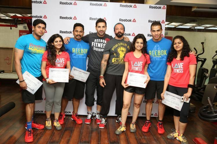 John Abraham With The Winners At Reebok India's Ultimate Fitness Fan Campaign