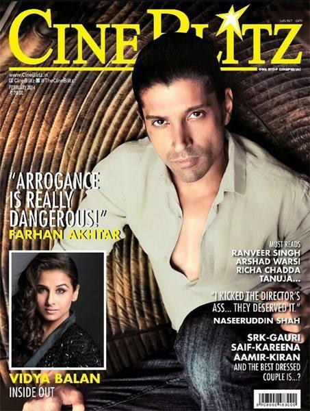 2014 Best Actor Farhan Akhtar Covers The Cineblitz February Issue