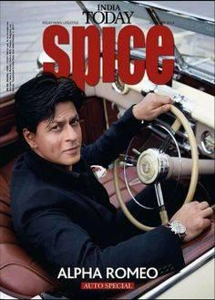 Shahrukh On The Cover Of India Today Spice Magazine February 2014 Issue