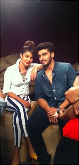 Priyanka Chopra And Arjun Kapoor Posed For Camera At Zoom TV Office