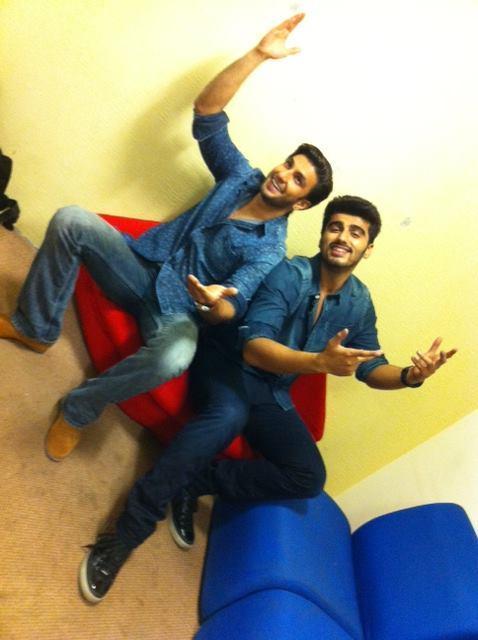 Ranveer Singh And Arjun Kapoor Cool Pose At Zoom TV Office