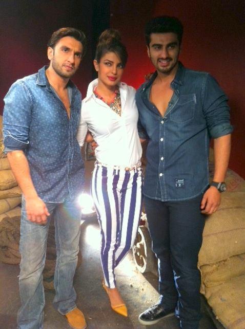 Ranveer,Priyanka And Arjun Promote Gunday At Zoom TV Office