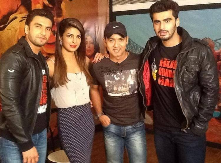 Ranveer,Priyanka And Arjun Clicked During The Promotion Of Gunday