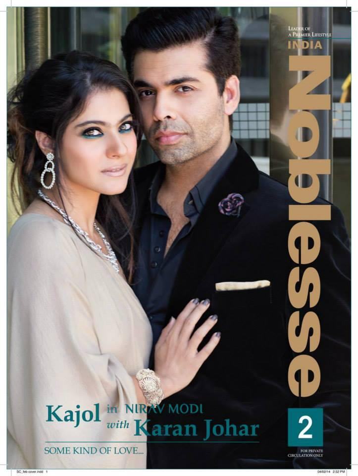 Kajol And Karan Johar On The Cover Of Noblesse India