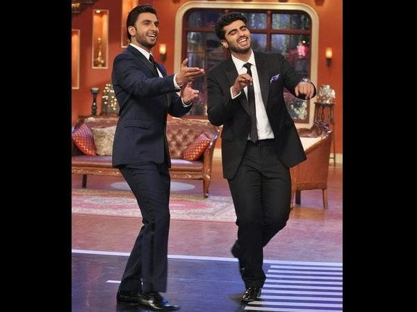 Gunday Arjun And Ranveer Promote Their Upcoming Movie On The Sets Of K Nights With Kapil