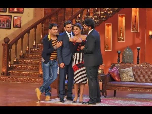 Gunday Priyanka,Arjun,Ranveer And Host Kapil At Comedy Nights With Kapil