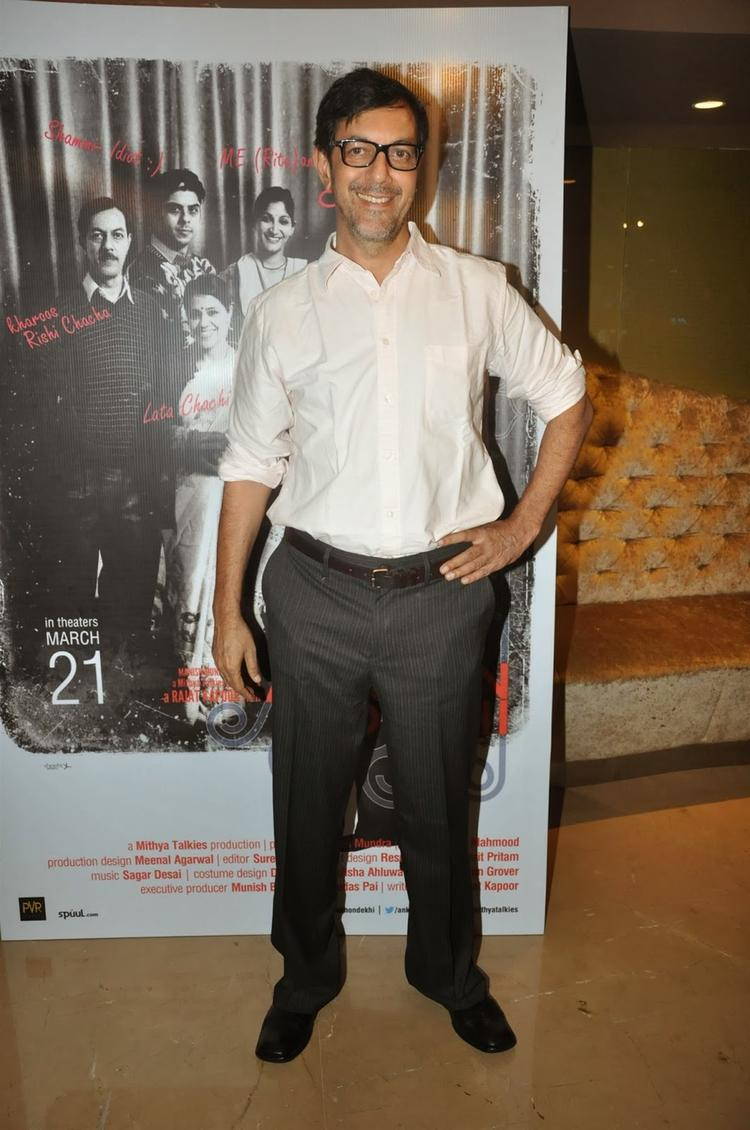 Actor Cum Filmmaker Rajat Kapoor At The First Look Launch Of Film Ankhon Dekhi