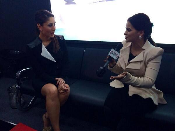 Kareena Kapoor Press Conference Still At Tia At Auto Expo 2014 Launch Event