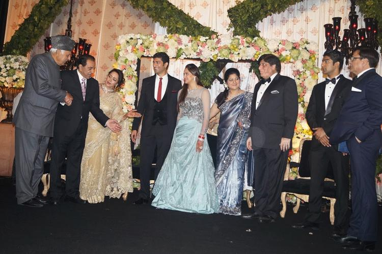 Bride Ahana And Groom Vaibhav Met Some High Profile Guests At Their Wedding Reception
