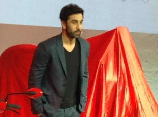 Ranbir Kapoor Dappers Look In Suit During The Launch Of Hero Scooters At Auto Expo 2014