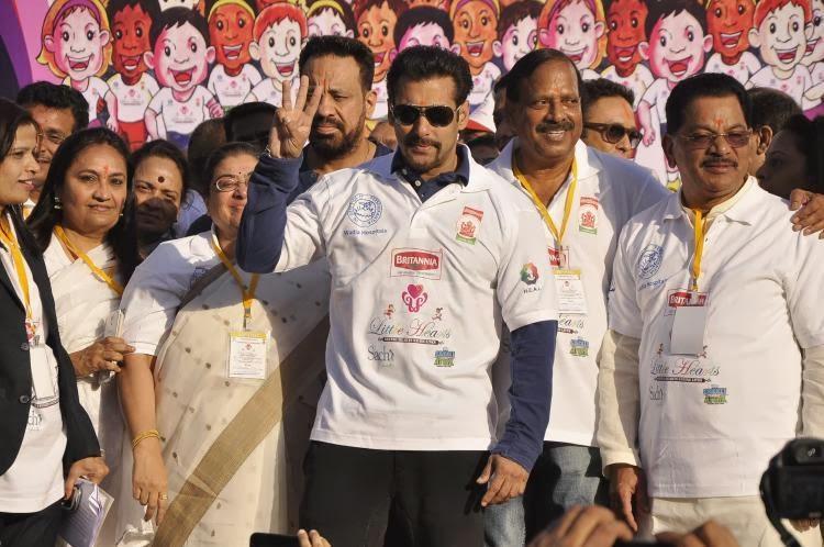 Bollywood Dabangg Salman Khan At Little Hearts Marathon Campaign