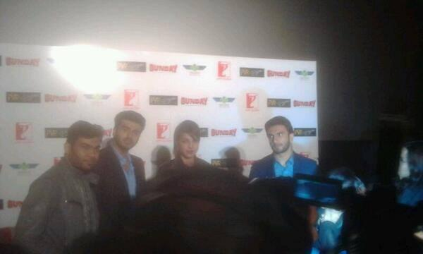 Priyanka,Ranveer And Arjun Kapoor Promoted Gunday In Delhi