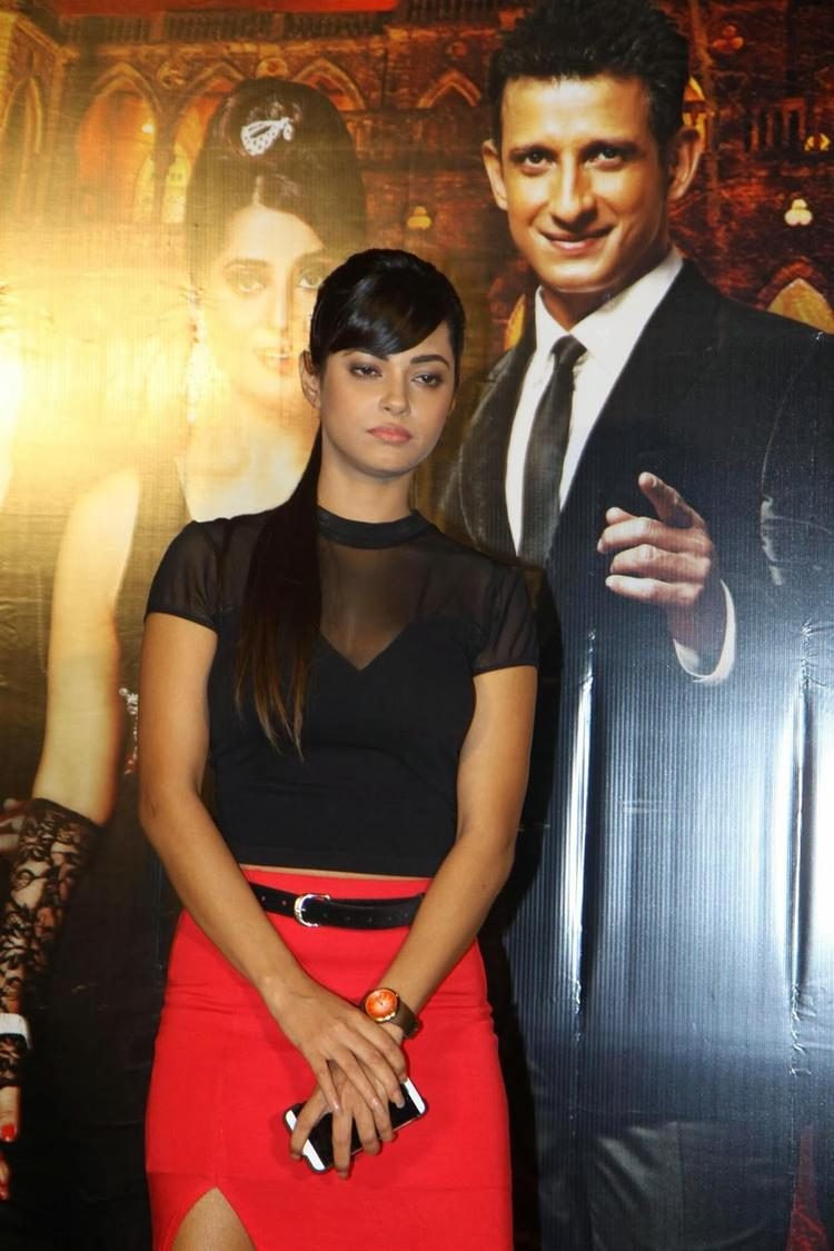 Actor Meera Chopra During The Trailer Launch Of Film Gang Of Ghosts In Mumbai