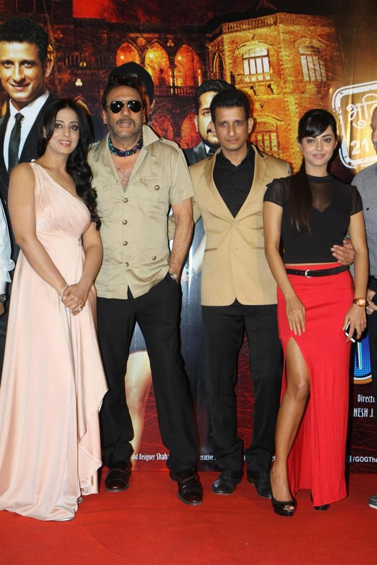Jackie,Sharman,Meera And Mahi Pose For Photo Shoot At Gang Of Ghosts Trailer Launch Event