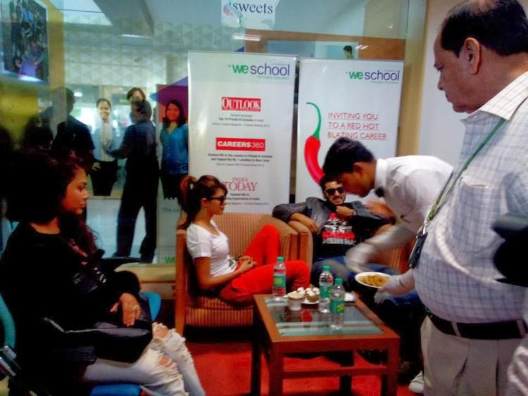 Arjun And Priyanka At Welingkar College To Promote Gunday