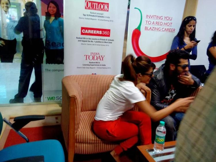 Priyanka And Arjun At A College In Mumbai To Promote Gunday