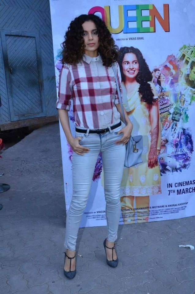 Kangana Ranaut Snapped Promoting Their Film Queen In Mumbai