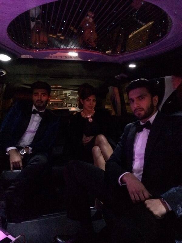Priyanka,Ranveer And Arjun Nice Pose For Camera During Gunday Promotion