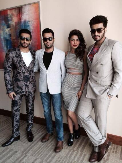 The Trio Along With Director Ali Abbas Zafar In Dubai To Promote Gunday