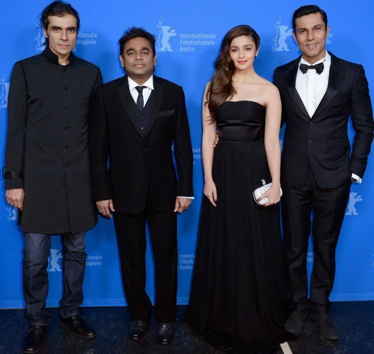 Alia,Randeep,Imtiaz And AR Rahman At Berlinale To Highway Promotion