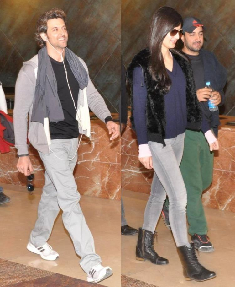 Handsome Hrithik Roshan And Stunning Katrina Kaif's Day Out