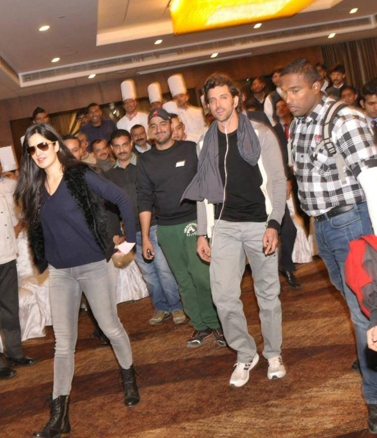 Hrithik And Katrina From Hotel Marina In Shimla, Where They Are Currently Put Up