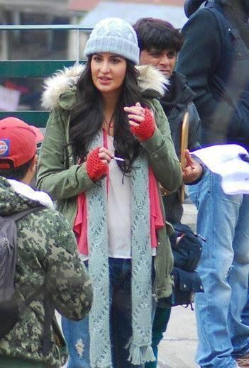 Katrina Kaif Looked Pretty In Warm Clothes On The Sets Of Bang Bang Movie In Shimla