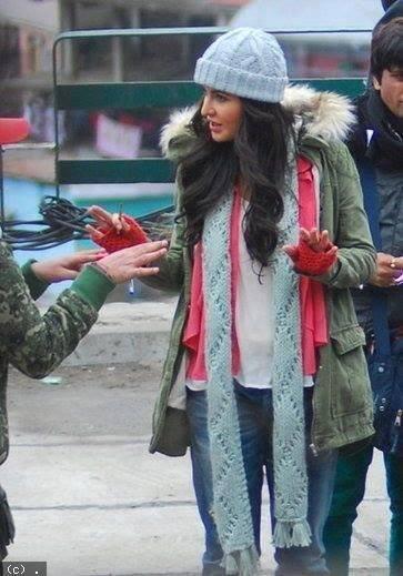 Katrina Kaif Spotted On The Sets Of Bang Bang Movie In Shimla