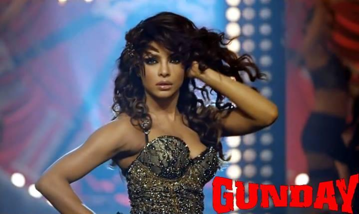Priyanka Chopra Hot Dance Pose In Asalaam-E-Ishqum Song From Gunday Movie Poster